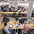 UNDATED - Photo of HootSuite Office - Marketing Department. HANDOUT courtesy of © 2014 HootSuite Media, Inc